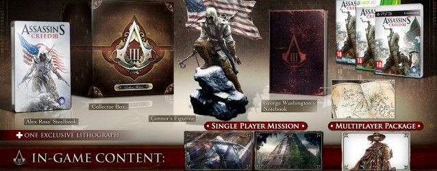 Assassins Creed 3 Boxes and Special Editions