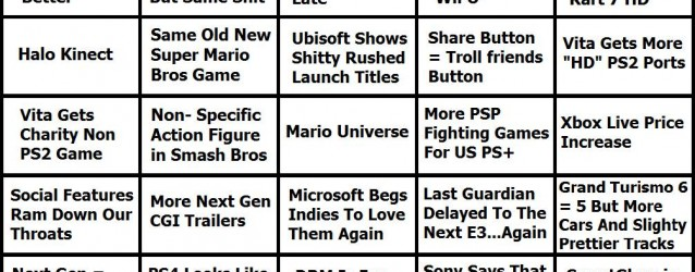 E3 Bulls**t Bingo