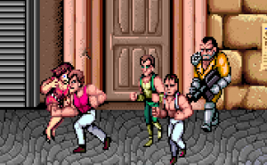 Double Dragon Punching Woman
