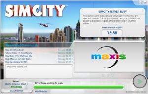 SimCity Server Queues