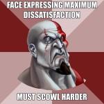 scowl harder